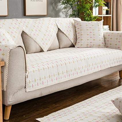 Amazon.com: SAFAJINHH Sofa slipcover,Solid Color Sofa Covers Cotton ...