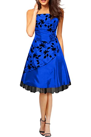 BlackButterfly Sia Satin Essence Prom Dress (Blue, UK ...