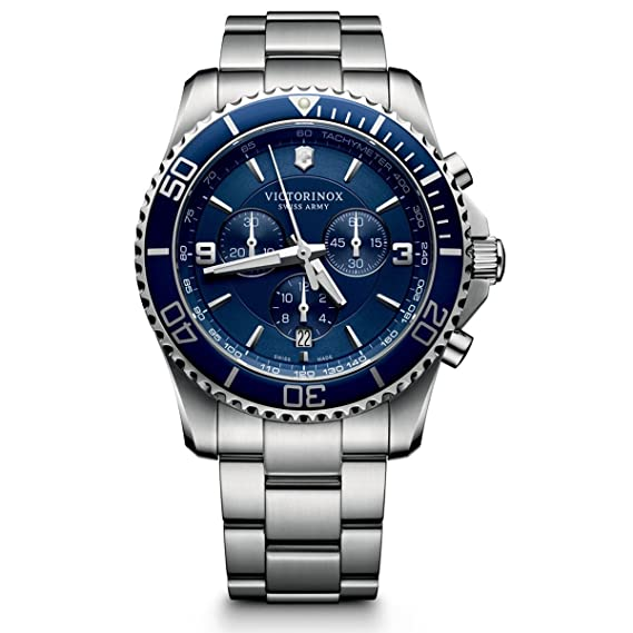 Victorinox Reloj Cronógrafo de Cuarzo para Hombre con Correa de Acero Inoxidable - 241689: Amazon.es: Relojes