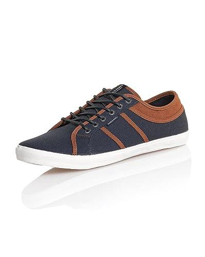 bc2452f5ac8 Jack and Jones - Chaussure Homme Toile Basse Navy et Marron - Couleur  Bleu  -