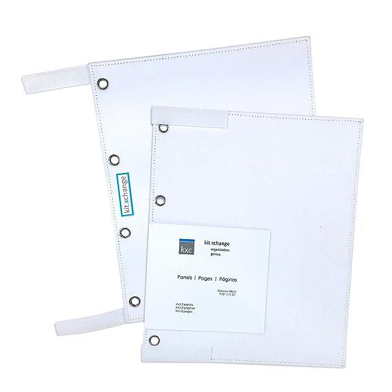 Amazon.com: 2 Panels by KIT XCHANGE Hanger Binder Storage System Planner Beads Scrapbooking Hook Loop