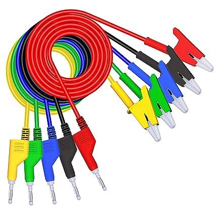 Zerone Ultrascharfe Vergoldeten Probe Test Lead Kabel Banana Stecker zuverl/ässige Werte 1000/V 20/A Sonde F/ührt mit Gap f/ür Digital Multimeter