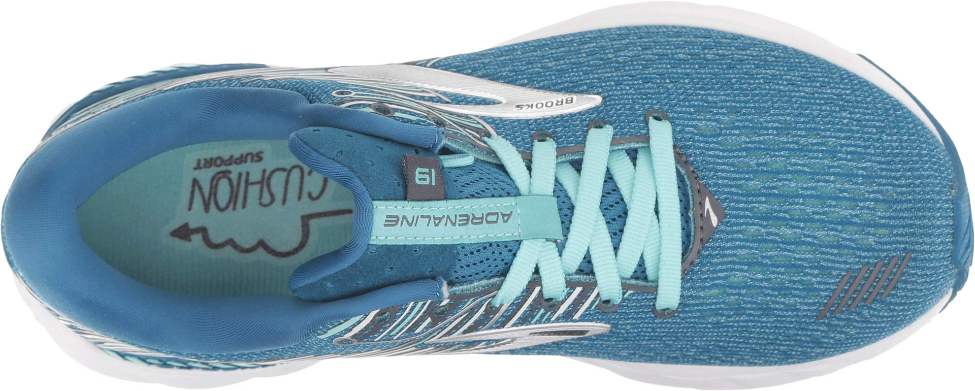 Brooks Women's Adrenaline GTS 19 Blue/Aqua/Ebony 5.5 B US by Brooks (Image #2)