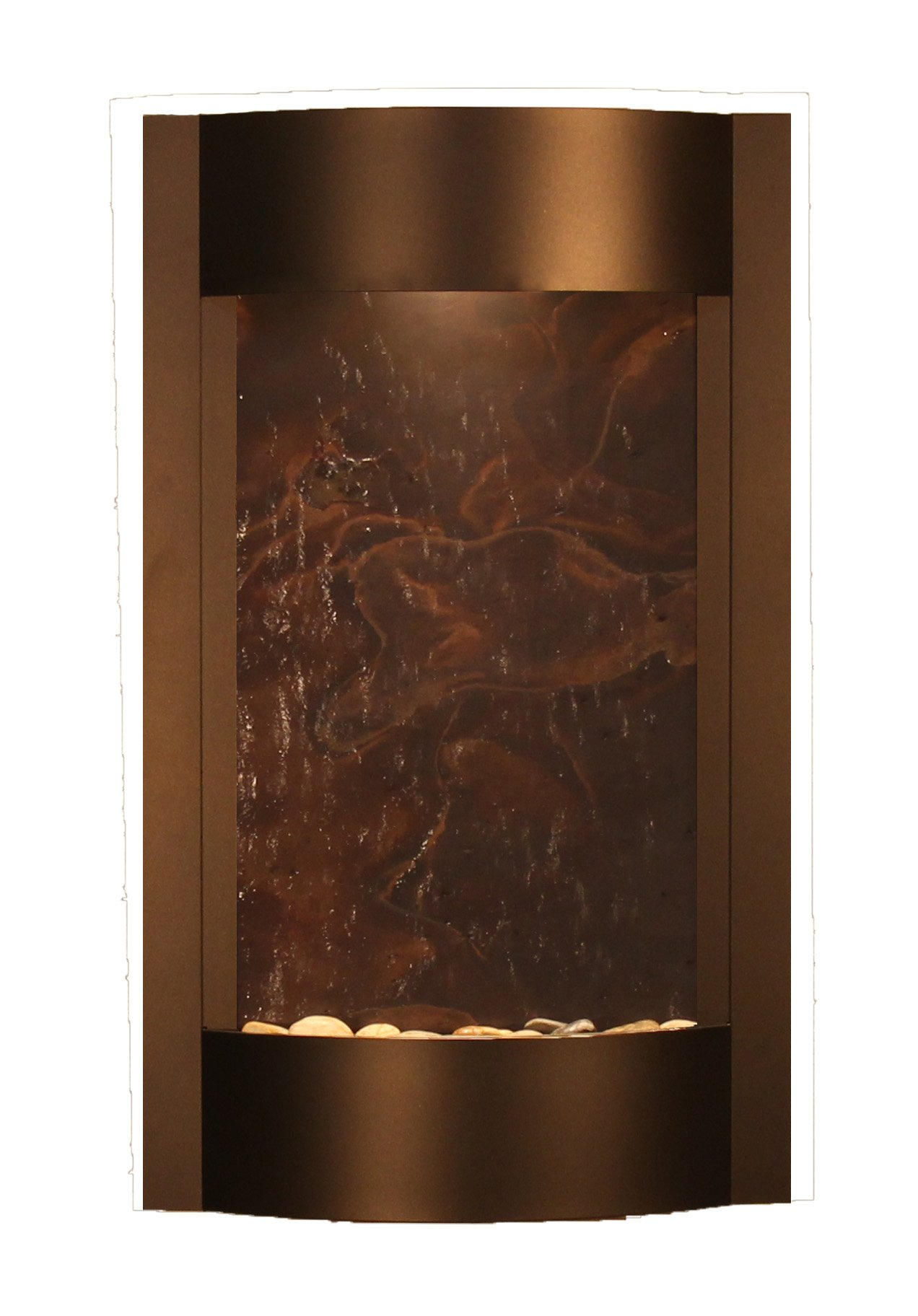 Serene Waters Water Feature with Multi-Color FeatherStone (Antique Bronze)