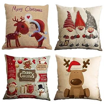 Impression Feliz Navidad 4 Pack Encantador Papá Noel Alce ...