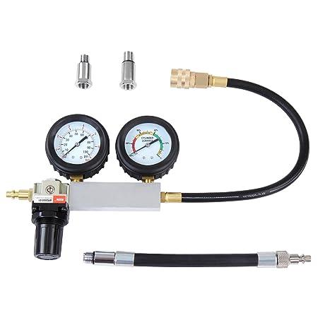 Timbertech - Medidor de présion y fugas de motor a gasolina con adaptador de bujías de 12 y 14 mm: Amazon.es: Bricolaje y herramientas