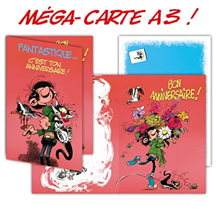 Gaston Lagaffe glmg-5005 tarjeta de cumpleaños gigante Maxi ...