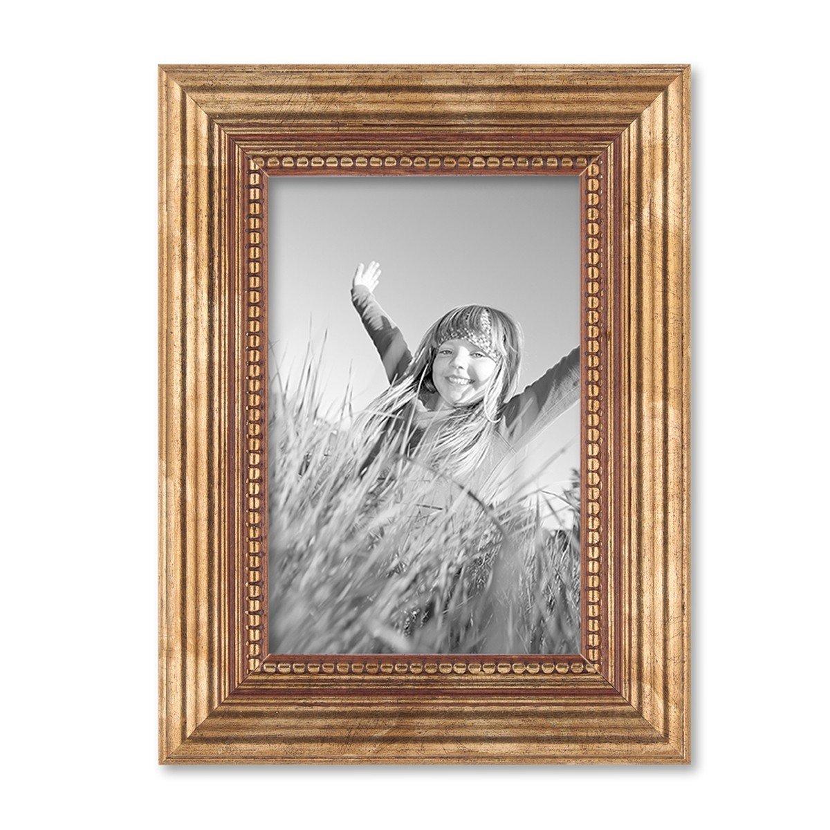 Amazon.de: PHOTOLINI 12er-Set Bilderrahmen Gold Barock Antik 10x15 ...