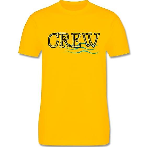 JGA Junggesellenabschied - Crew - 3XL - Gelb - L190 - Herren T-Shirt  Rundhals
