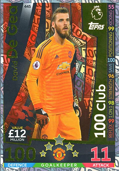 competitive price 42f71 53c63 Amazon.com: MATCH ATTAX 2018/19 David DE GEA 100 Club Card ...
