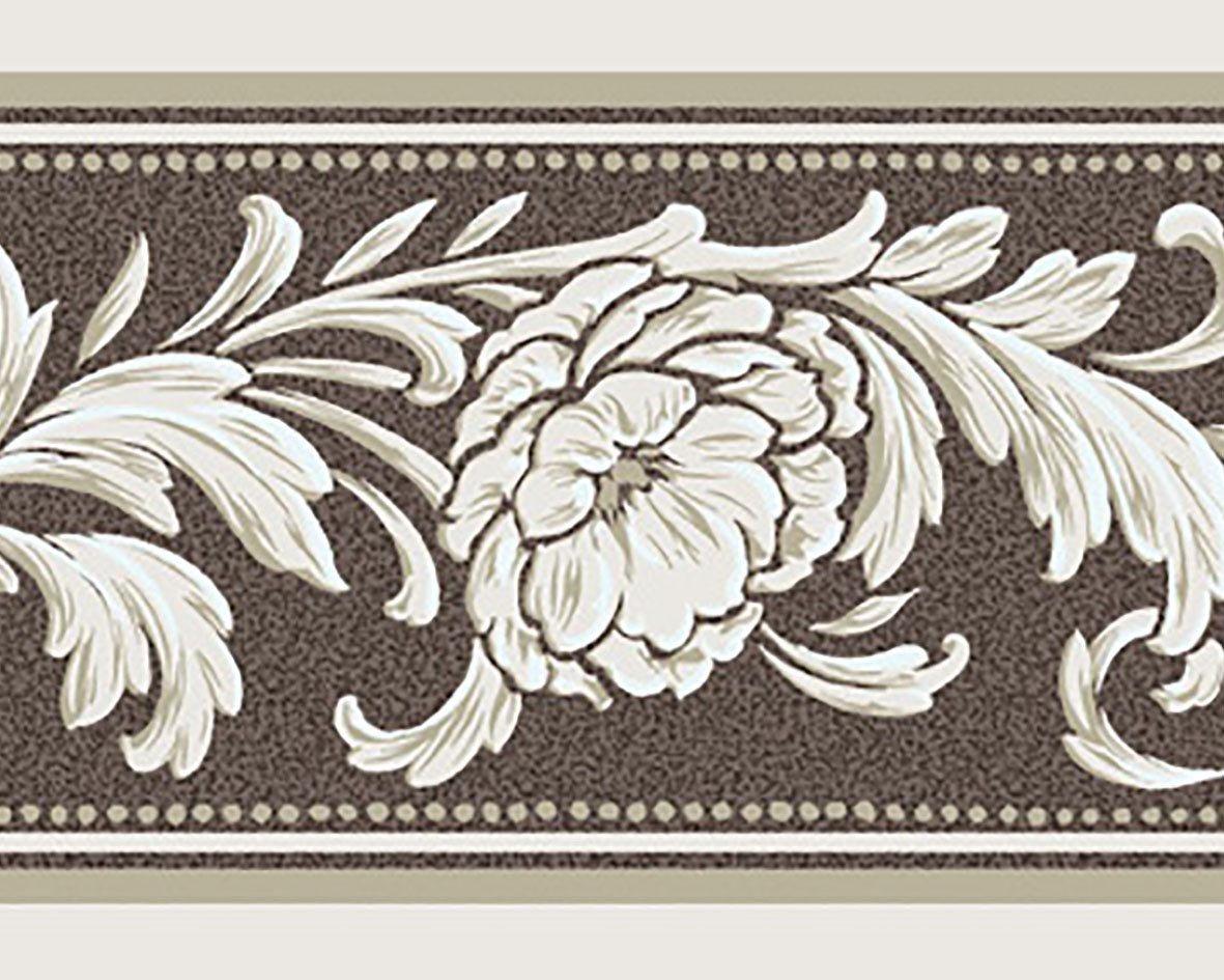 リリカラ トリムボーダー32本 エレガンス 花柄 ブラウン  LW-2866 B07612PQC8 32本|ブラウン