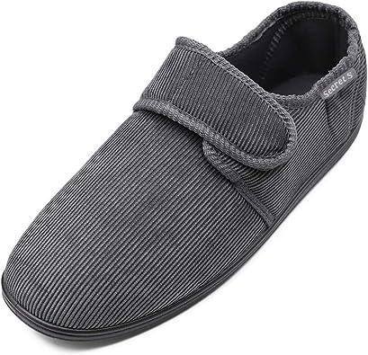 Hotme Men's Cozy Memory Foam Slippers