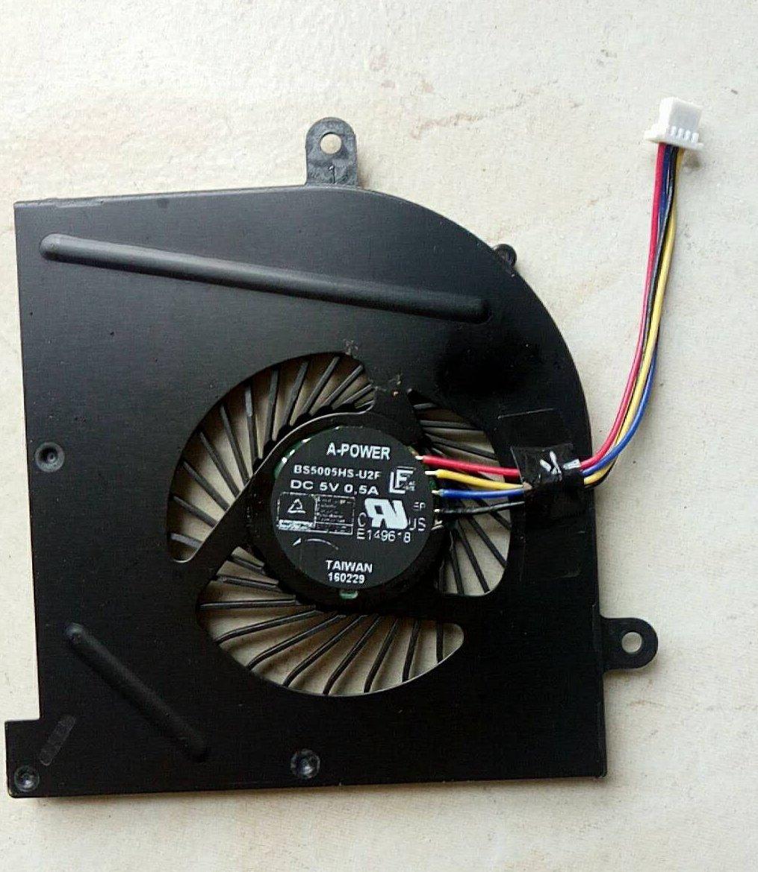 EJTONG New for MSI GS63 GS63VR GS73 GS73VR MS-16K2 MS-17B Laptop CPU Cooling Fan BS5005HS-U2F1