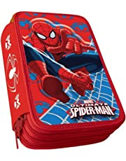 Spiderman Astuccio tre Zip Scuola AS9044
