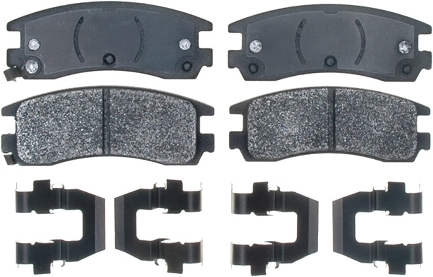 Rear Wagner Brake Wagner QuickStop ZD714 Ceramic Disc Pad Set Includes Pad Installation Hardware