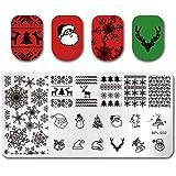 Born Pretty Nail Art Stamping Template Christmas Snowflake Santa Claus Christmas Tree Stocking Image Plate Xmas Snowflake BP-L032
