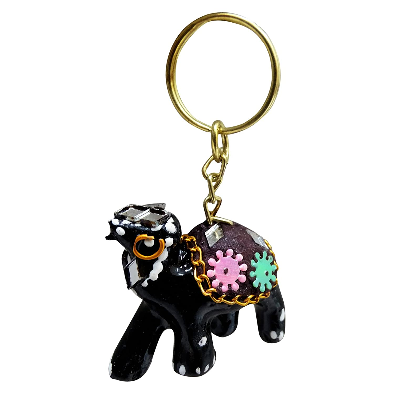 PEEGLI Pintado Indio Antiguo Elegante Llavero Camello Negro ...