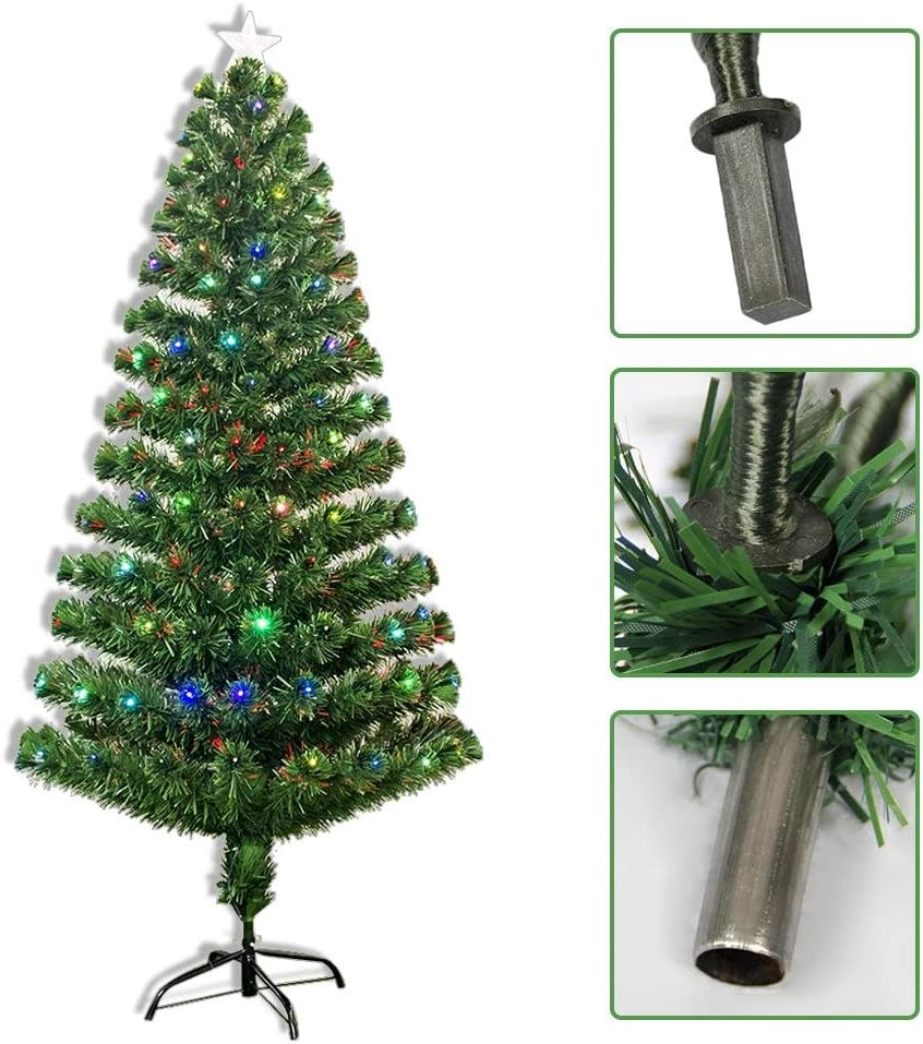 Dedeka Artificial Christmas Tree with Colorful Optic Fiber ...
