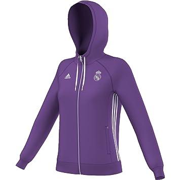 adidas Real Madrid 3S HD Ziw Sudadera, Mujer, Morado/Blanco (Vioray/Balcri), XL: Amazon.es: Deportes y aire libre