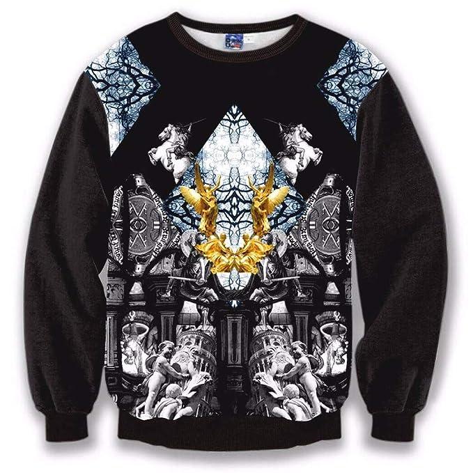 3D-Pullover 2018 Otoño e Invierno Hombre Digital Roman Palace 3D Impresión Sweater Mens Shirt: Amazon.es: Ropa y accesorios