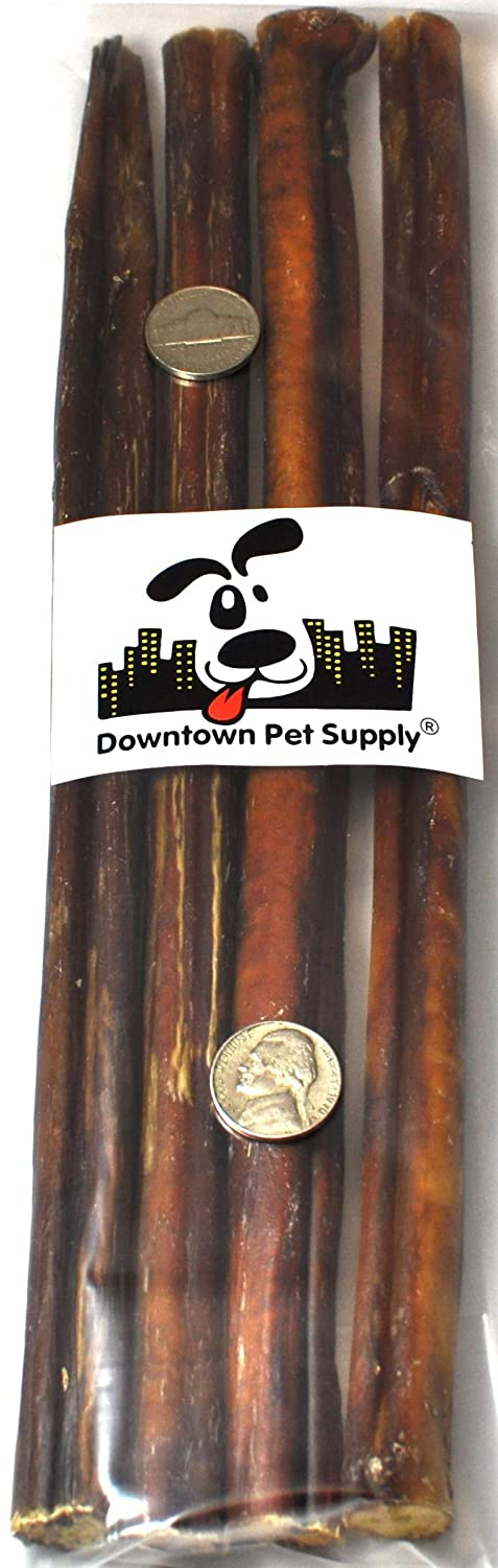 """12"""" BULLY STICKS - Large Select Thick - Dog Chew Treats, 12 inch, by Downtown Pet Supply"""