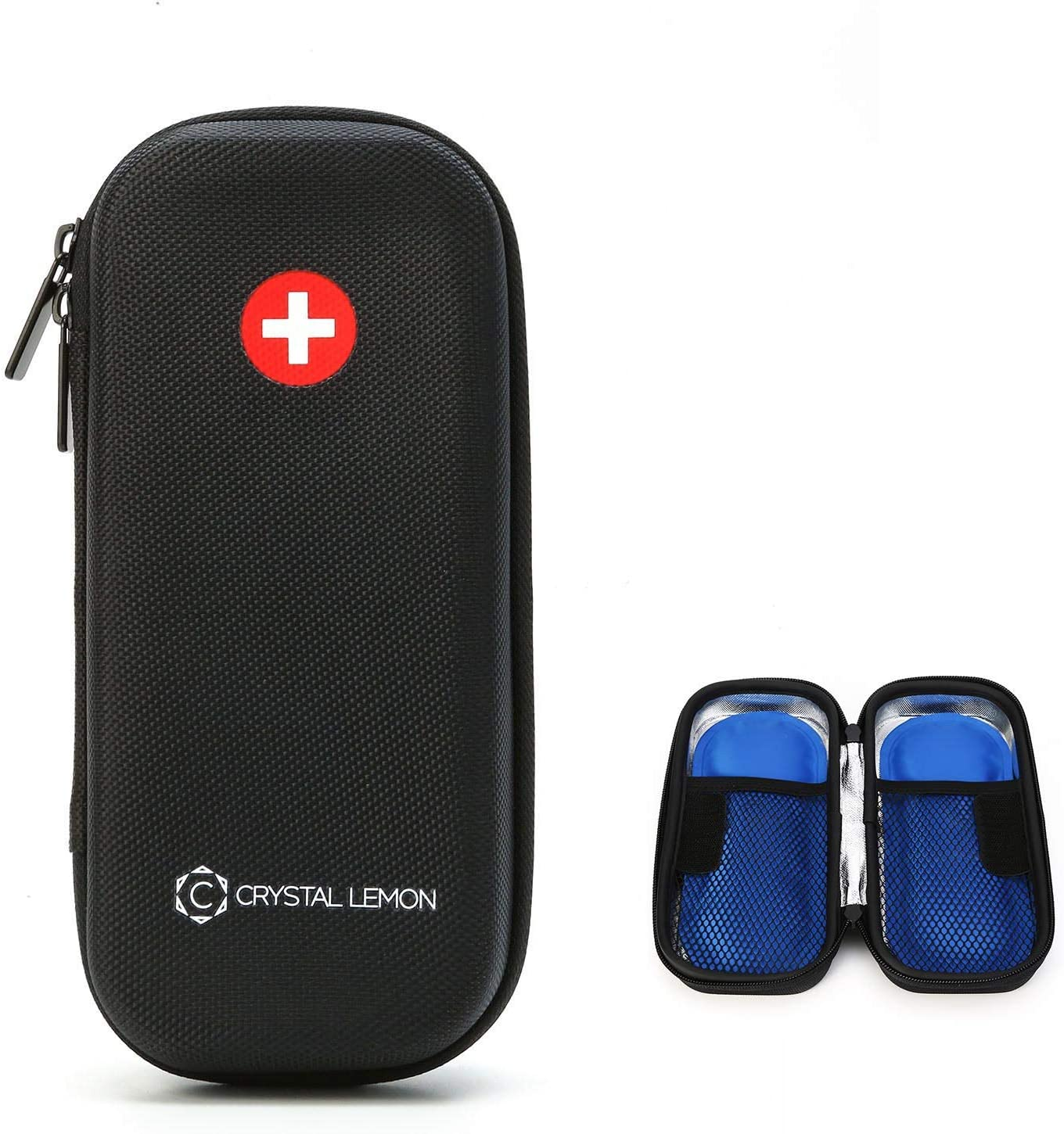 Insulin Cooler Travel Case Designed for EpiPen, Insulin Travel Case Includes 2 Free Ice Pack by C Crystal Lemon