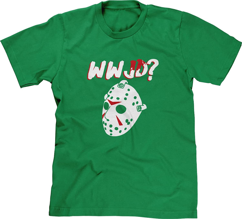 Blittzen Mens T-shirt WWJD - What Would Jason Do