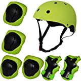 Kiwivalley Kids Boys and Girls Outdoor Sports Protective Gear Safety Pads Set [Helmet Knee Elbow Wrist] for Rollerblades…