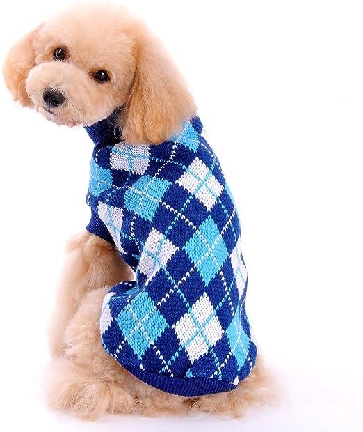 FONLAM Jersey para Perro Cachorro Gato Chaleco Disfraz Ropa Traje Fiesta a Cuadro Mascota Perro (M, Azul Oscuro): Amazon.es: Productos para mascotas