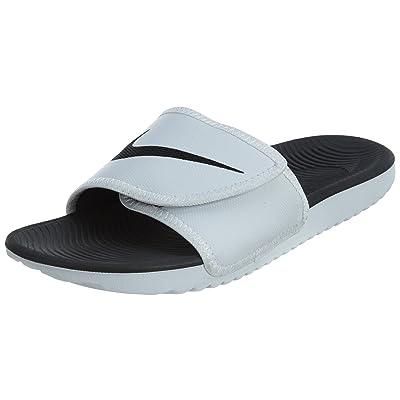 Nike KAWA Men's Adjustable Slide Sandal White/Black | Sport Sandals & Slides