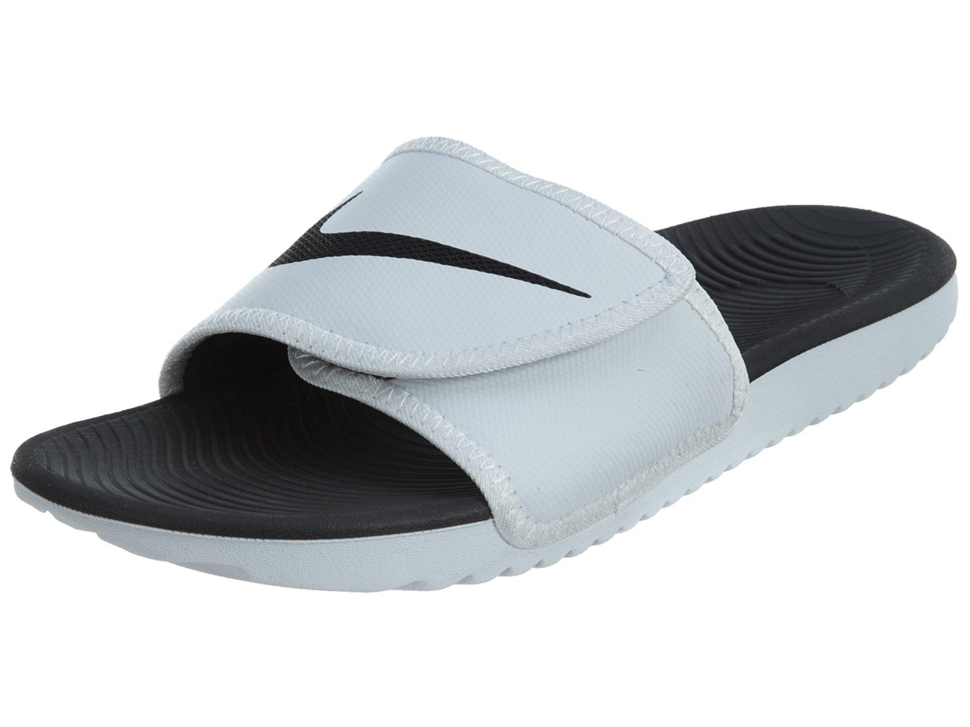 Nike Men's Kawa Adjustable Slide Sandals White/Black-White 11
