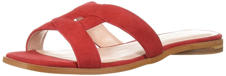 red Kid Suede Avec Les Filles Womens Blaye Flat Sandal