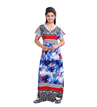 b9683815f3 MAHAARANI Fancy Viscose Nighty Night Wear Sleep Wear for Women  Amazon.in   Clothing   Accessories