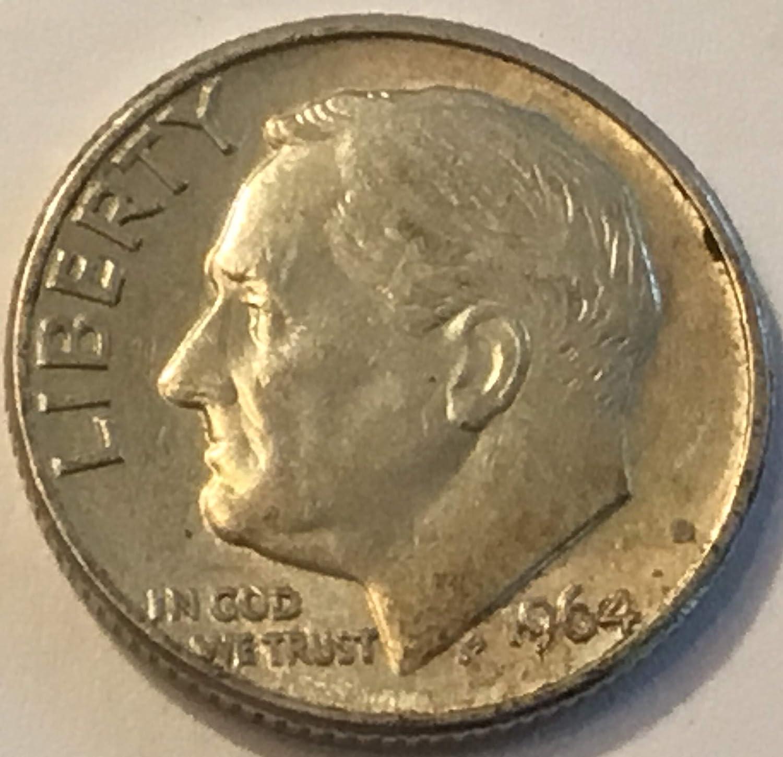 Uncirculated a 1964 Gem D Roosevelt Dime