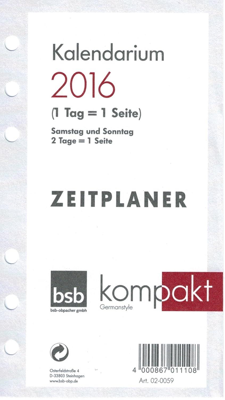 Zeitplanzubeh/ör A6 Kalendarium BSB 02-0059 1t1s