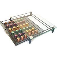 Rness Coffee Capsule Holder, Coffee Pods Organizer, Storage Box Drawer for Nesspresso, Transparent Style Space-Saving…