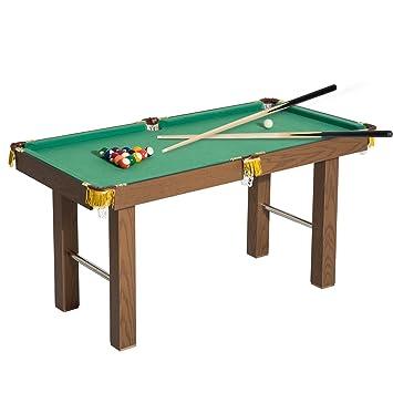 Homcom - Mesa de billar para niños con bolas, tacos y accesorios ...