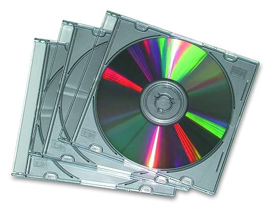 97 opinioni per Fellowes Jewel Case Slim Custodia per CD, 25 Pezzi, Trasparente/Metallo