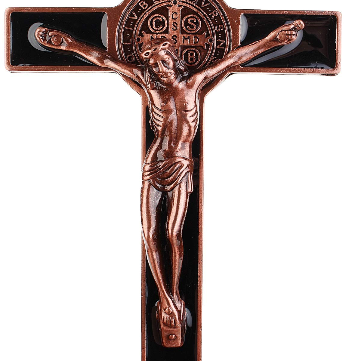 YUNGYE Church Relics Wall Crosses Crucifix Jesus On The Stand Cross Wall Crucifix Antique Home Chapel Decoration 20cm