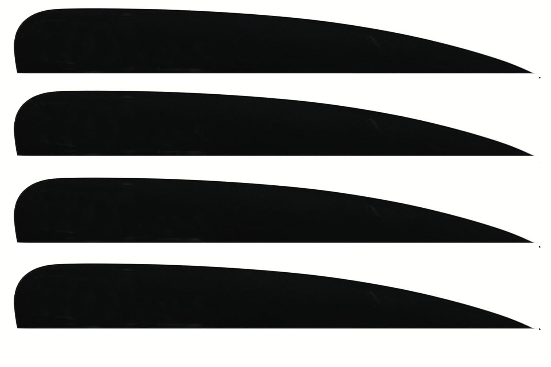 aleta negro aletas deslizantes del G-10 aletas 4x G10 slider fins aletas M6 aletas wakeboard tablas de surf, Kiteboardfinnen aletas deslizantes Negro