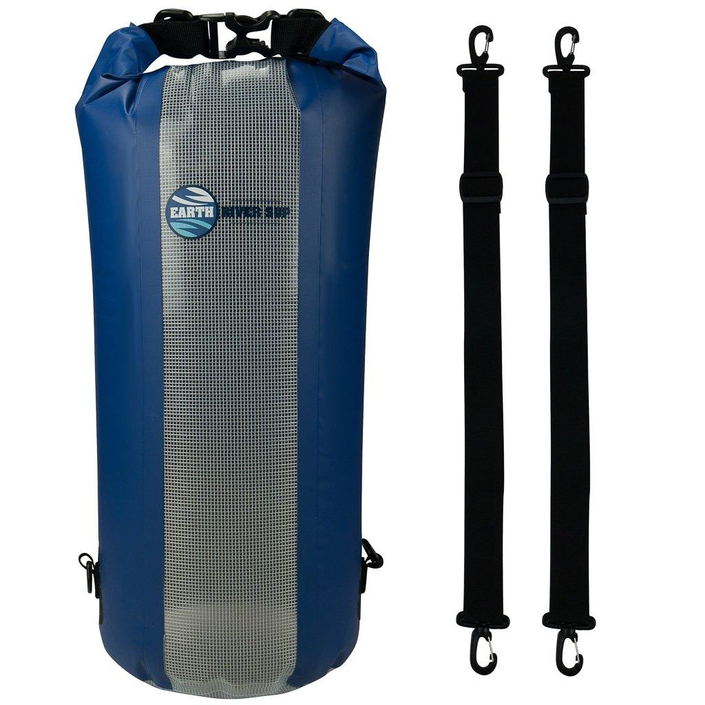 Secure Waterproof Bag Inc Earth River SUP Dry Bag 20 Liter Black 10 Liter Models /& Up Backpack Straps /& Transparent Front Panel Backpack Straps /& Transparent Front Panel Secure Clip