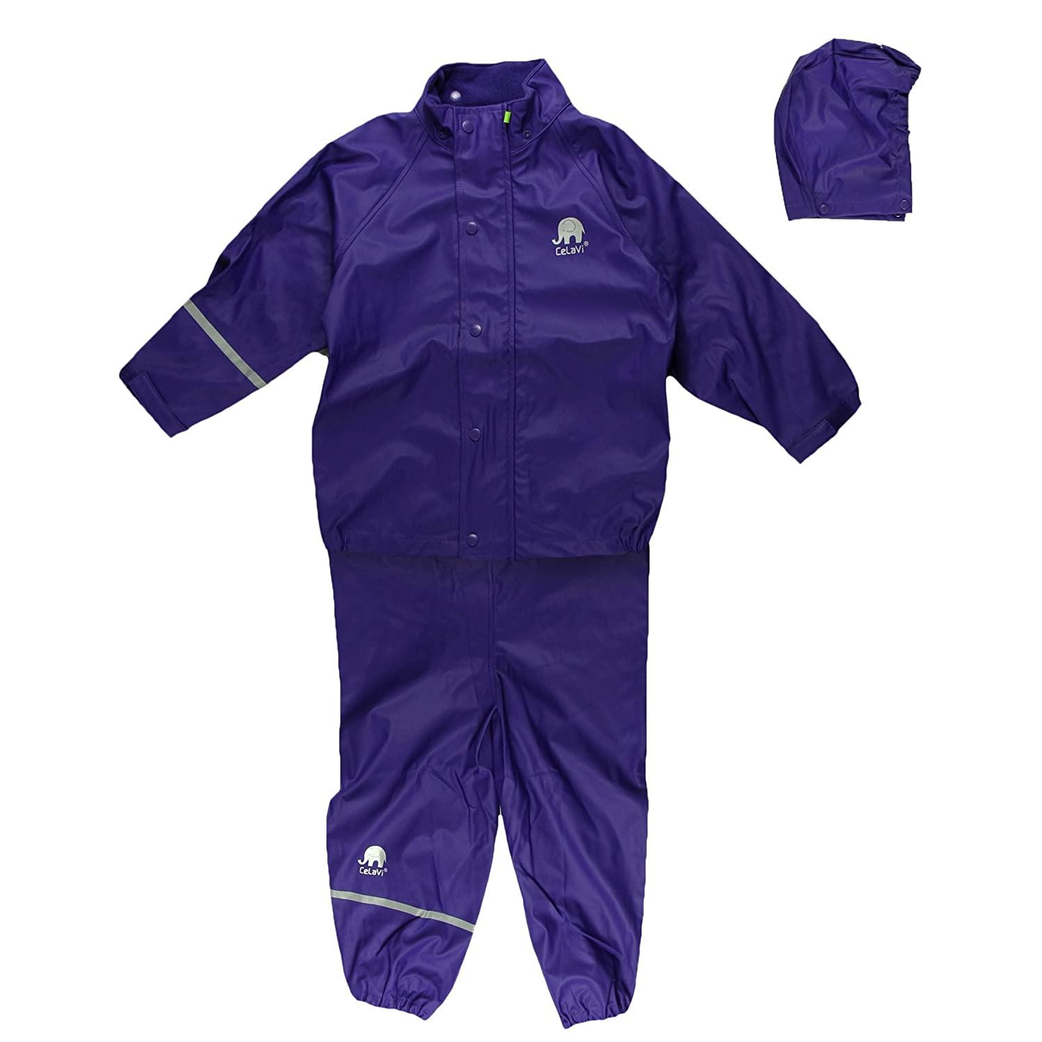Violet (violet) 150 Cm  CeLaVi Basic Rainwear Suit -Solid - Costume Mixte