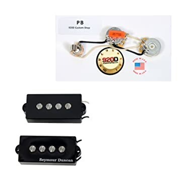 Amazon.com: Seymour Duncan SPB-3 Fender P Bass Guitar Pickup Black ...