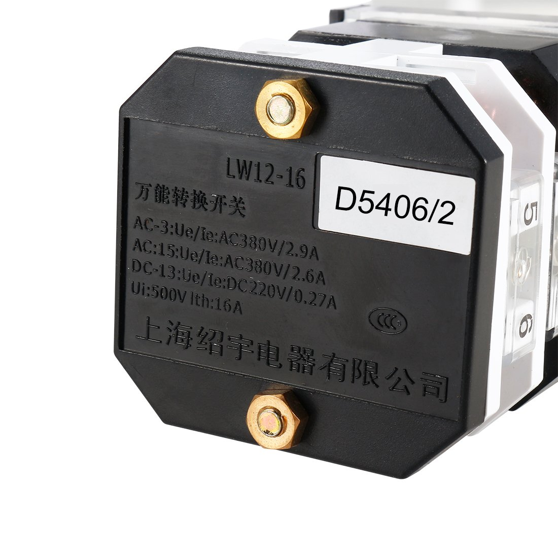uxcell Changeover Switch LW12-16 D5406//2 3 Position Rotary Selector Cam Switch Panel Mount 8 Terminals Latching Ui 500V Ith 16A a18042500ux0237