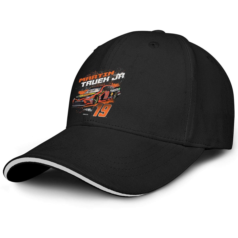 Unisex Womens Stylish Baseball Cap Martin-Truex-Jr-2019-NASCAR-Contender-Driver#19- Athletic Six Panel Cotton Trucker Cap by NIANLJHDe