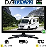 Reflexion LED197, LED Fernseher 47 cm (18.5 Zoll), TrpleTuner DVB-S /S2, DVB-T2 H.265 HEVC, DVB-C, USB, 230V +12Volt, Energieeffizienzklasse A