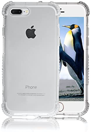 Carcasa iPhone 7 Plus Claro - Mejor Protección Invisible para Teléfonos Apple, Cubierta Antideslizante y la más Nueva Tecnología Airbag que Previenen ...