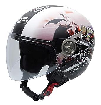 NZI 050332G909 Helix IV Angel Nieto 12+1 Ran, Casco de Moto, Talla