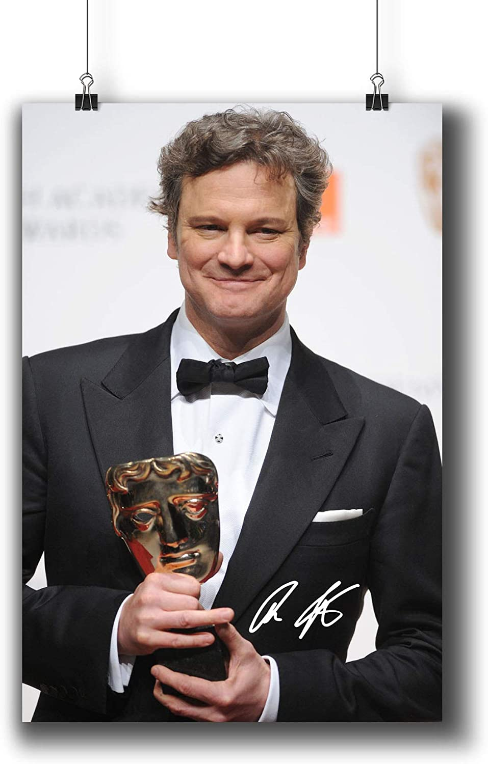 Colin Firth Actor Movie Photo Poster Prints 006-009 Reprint Signed,Wall Art Decor for Dorm Bedroom Living Room (A3|11x17inch|29x42cm)