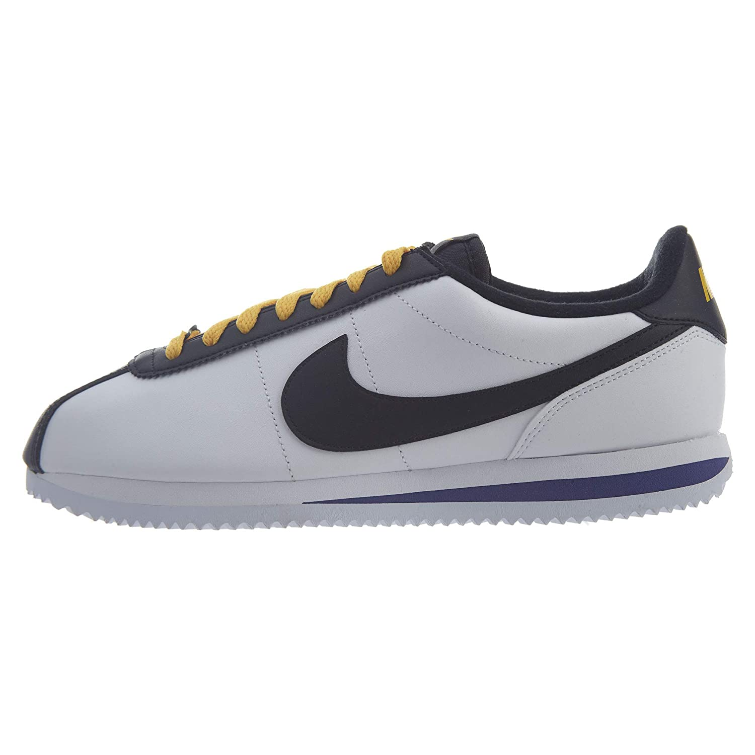 new style 18ee7 2dc66 Nike Cortez Leather Lakers Ravens White Purple Yellow Mens